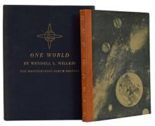 One World: The Photographic Album Edition: The Faces that Willkie Saw - Limited Edition, 1944, 769 of 1500  - Signed by Wendell L. Willkie