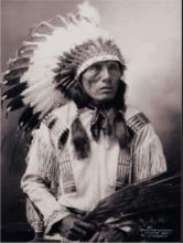 Chief High Horse by J.A. Anderson, Platinum Print, Signed by Stan Klimek - 1999