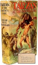 BURROUGHS, Edgar Rice. Tarzan At The Earth's Core. (FIRST GROSSET & DUNLAP EDITION & A PRESENTATION COPY - 1930)