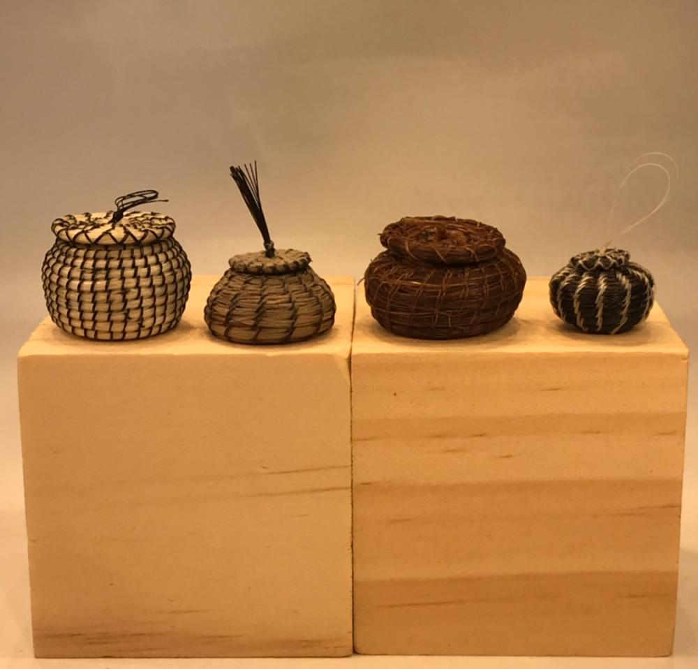 Artisan Snake Charmer Baskets Dollhouse Miniatures