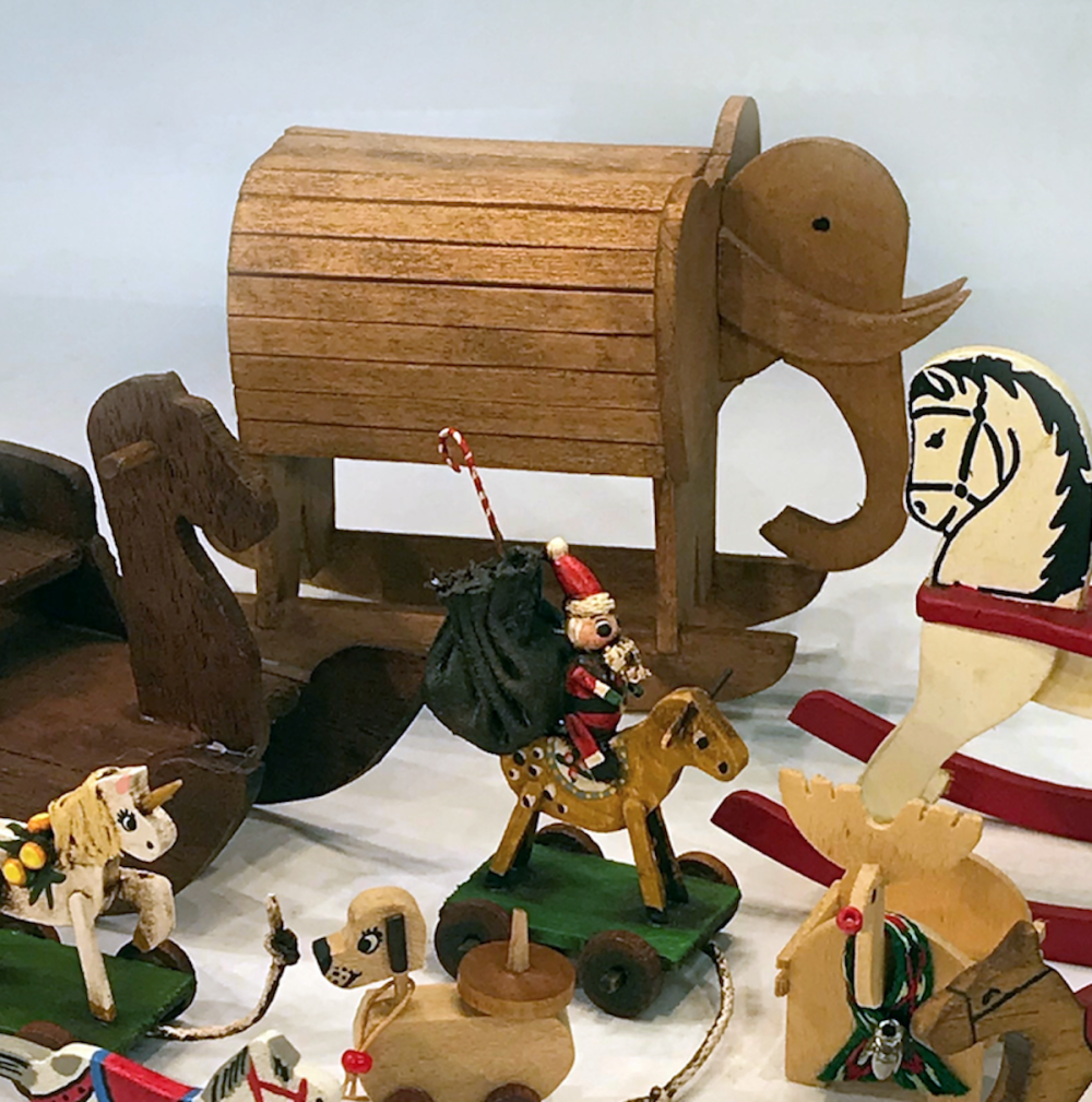 Artisan Rocking Horses and Pull Toys Dollhouse Miniatures