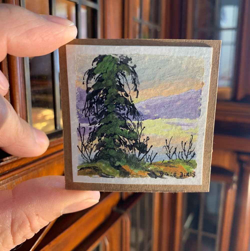 #13 Big Pine Dollhouse Miniature Painting by Dale Dirks