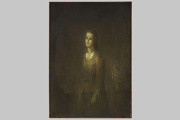 DE MAEYER LODE (1903 - 1981) olieverfschilderij op doek : 'Staand