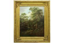 KISELEV ALEKSANDR (1838 - 1911) olieverfschilderij op doek met de typische