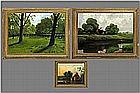 3 landscape paintings