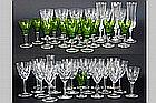 set of 28 glasses in crystalglass