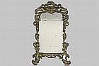 mid 18th Cent. Italian mirror with Louis XV frame in polychromed wood - typical work from Torino