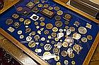 collection of ca 77 medaillons and plaques