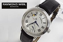 completely original automatic 'calendar moon' wristwatch in steel - marked