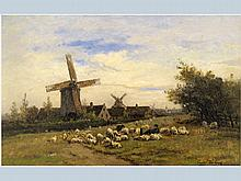 19th Cent. Belgian oil on panel - signed and dated