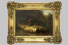 19th Cent. oil on panel - signed & dated