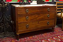 Art Deco-chest of drawers in mahogany with its marble top