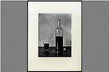black and white photoprint - signed and dated