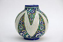 Art Deco-vase in marked 'Keramis' ceramic