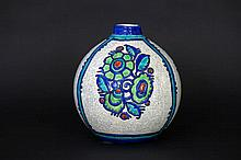 Art Deco-vase in marked 'Boch' ceramic with decoration by Ch. Catteau