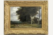 DE COCK CÉSAR (1823 - 1904) olieverfschilderij op …