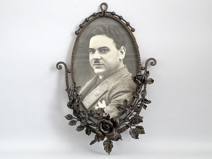 VAN BOECKEL LODE (1857 - 1944) ovale kader in