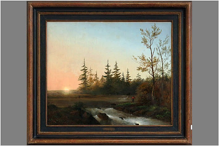 19th Cent. oil on canvas - signed