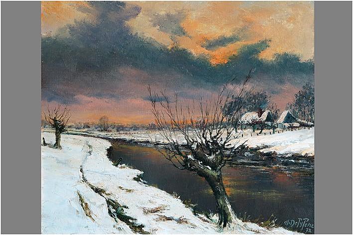 DE PIJPERE MICHEL (1923 - 1978) olieverfschilderij