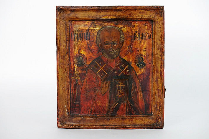 mid 19th Cent. Russian icon - with certificate