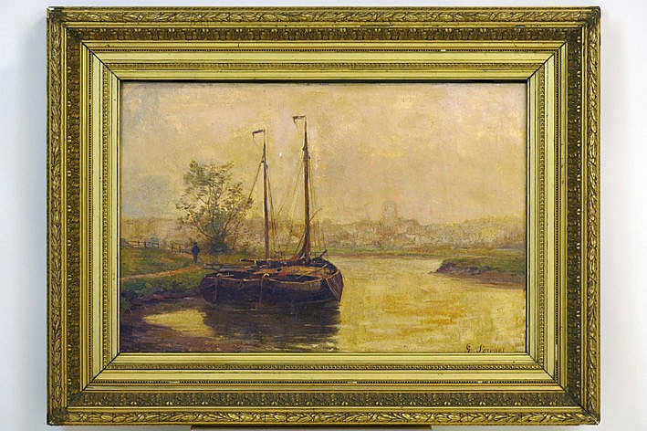 Belgian oil on canvas - signed