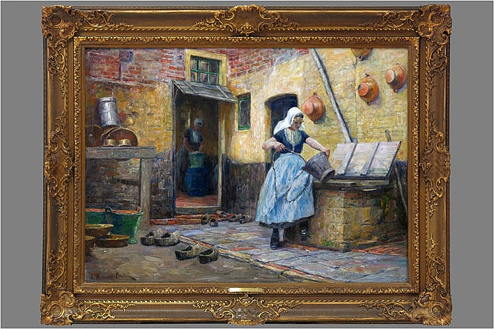 oil on canvas - signed (also on the back) and with exhibition label