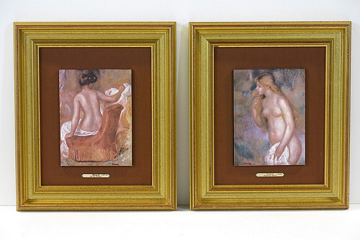 two chromogrphic prints after works by Renoir