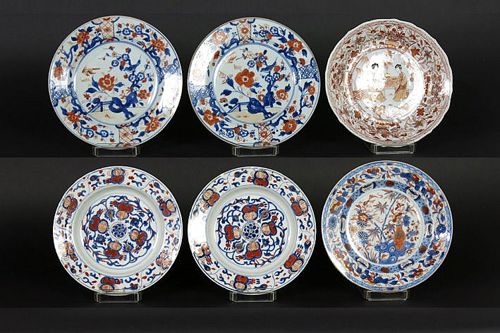 six 18th Cent. Chinese plates in porcelain