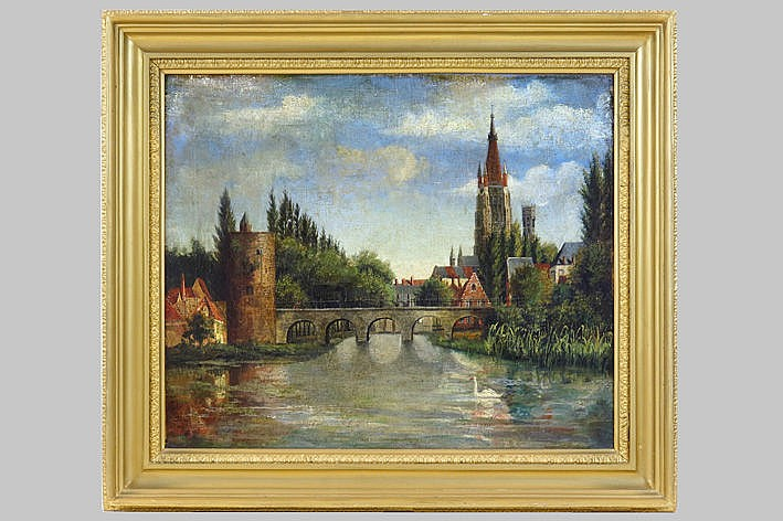 Belgian oil on canvas - ca 1900