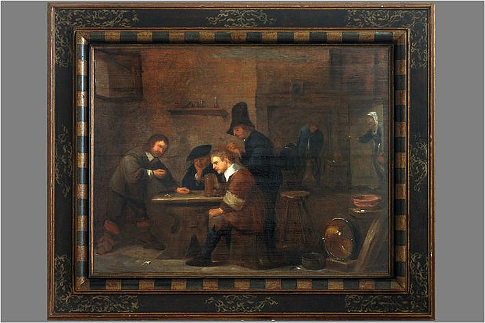 17th Cent. Flemish oil on panel from the surroundings of Adriaen Brouwer