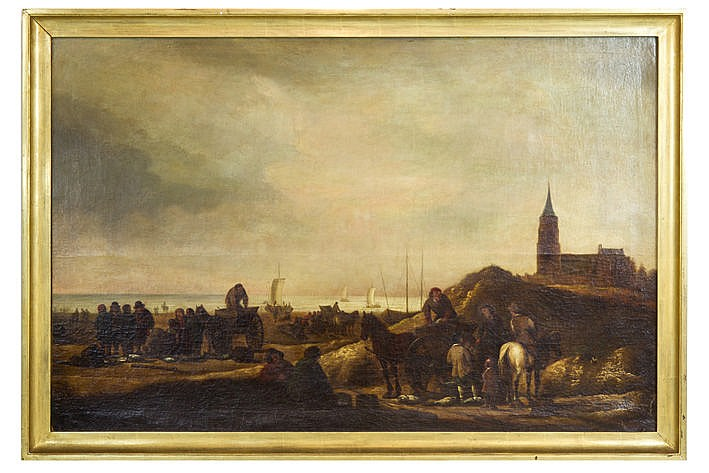 17th Cent. Dutch oil on canvas from the surroundings of Willem Kool