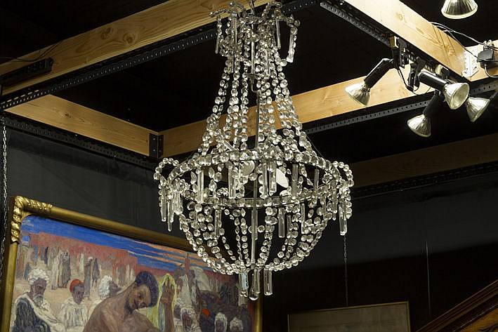 early 19th Cent. Empire-chandelier in crystal