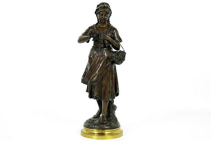 antique sculpture in bronze - signed
