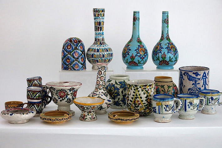 several items in Persian earthenware