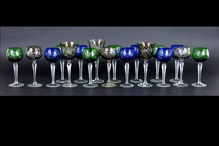 several glasses in crystal