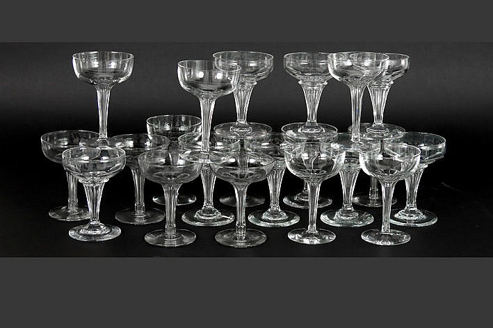 lot antique glasses in crystal