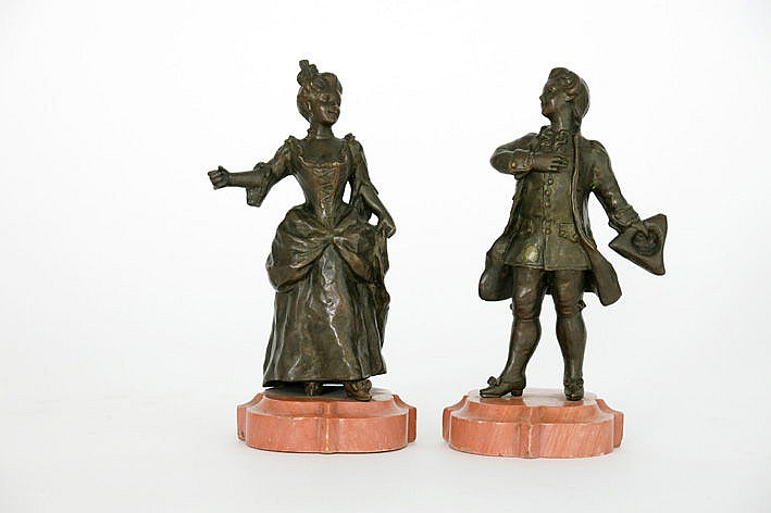 pair of 19th Century sculptures in bronze