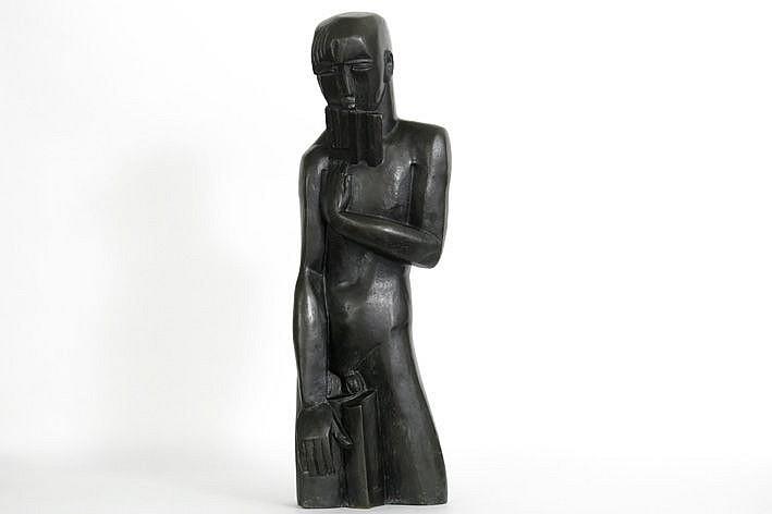 sculpture in bronze - signed