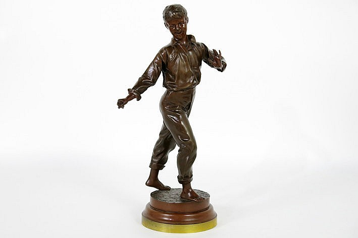 antique sculpture in bronze - signed