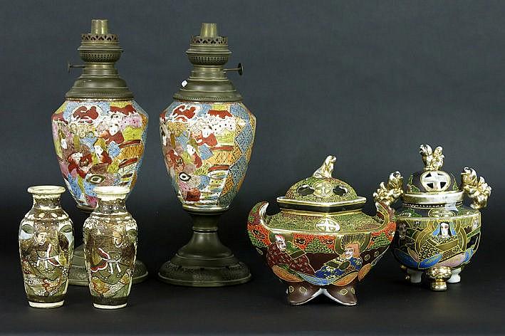 6 items of Japanese Satsuma ceramic