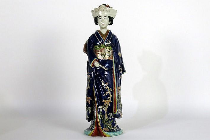 quite big antique Japanese sculpture in porcelain
