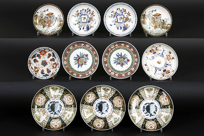 several antique small plates from China or Japan