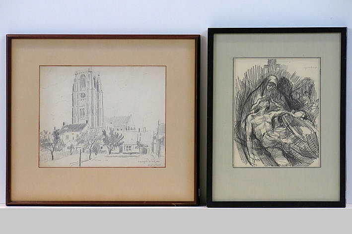 2 (�) drawings - signed and one is also dated