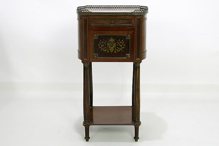 small 19th Century cabinet in mahogany with brass - marked