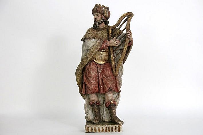 17th Cent. Flemish sculpture in polychromed wood