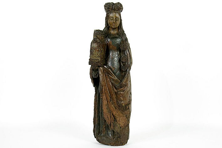 16th Cent. Flemish sculpture in wood with remains of polychromy - probably from Malines