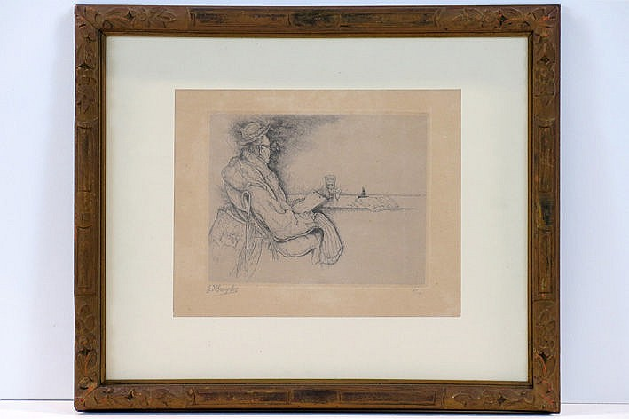 etching - signed and dated