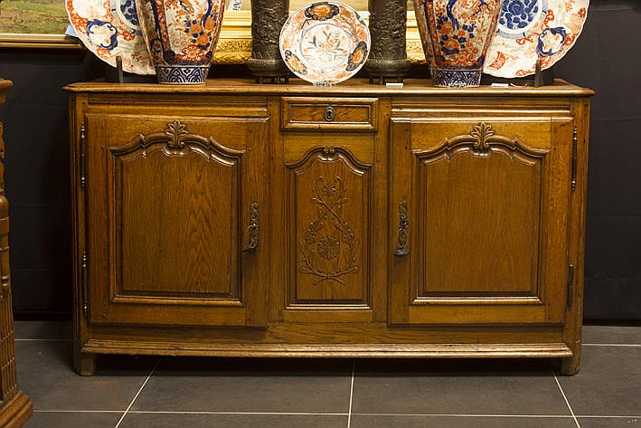 small 18th Century sideboard in oak
