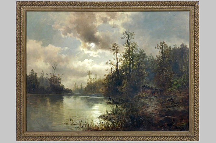 19th/20th Cent. Russian oil on canvas