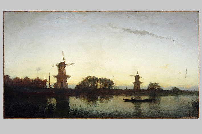 19th Cent. Russian oil on canvas (on an existing painting) - attributed to - reference : the painting by Bogolyubov